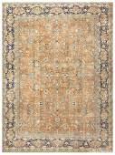 """Antique Persian Kerman  , size 9'9"""" x 13' ( 2.97 M x 3."""