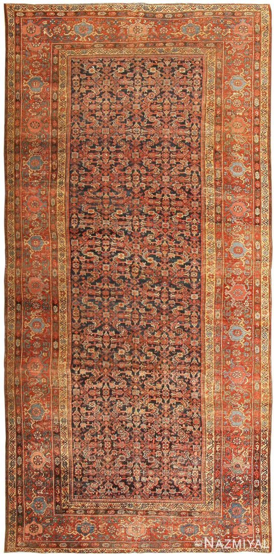 """Antique Persian Sultanabad , size 6'7"""" x 13'3"""" ( 2.01 M"""