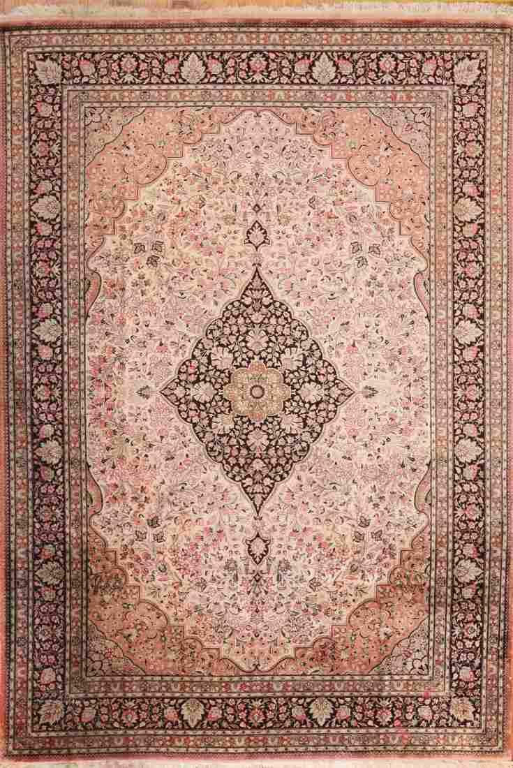 Vintage Persian Silk Qum , Size 6\