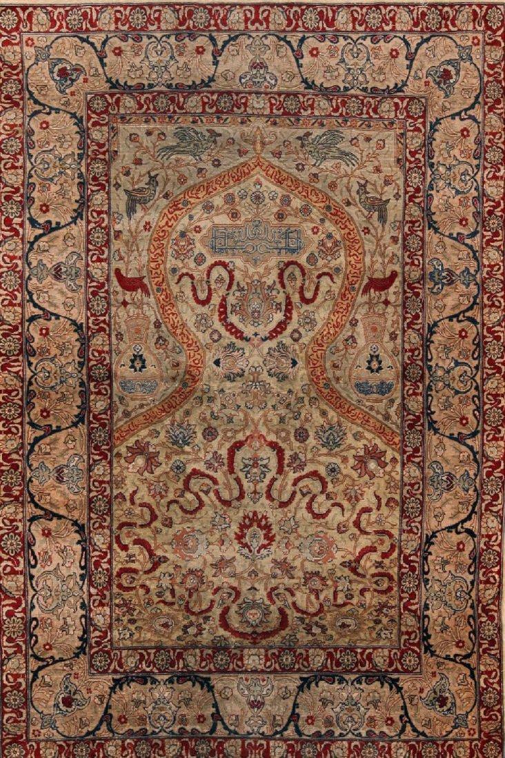 Vintage Turkish Silk Hereke  , Size 4