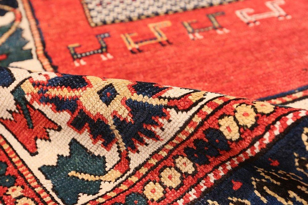 """Antique Caucasian Kazak carpet , Size 4' x 6'9"""""""