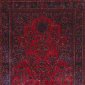 Antique Persian Silk Kashan  Size 33 x 5