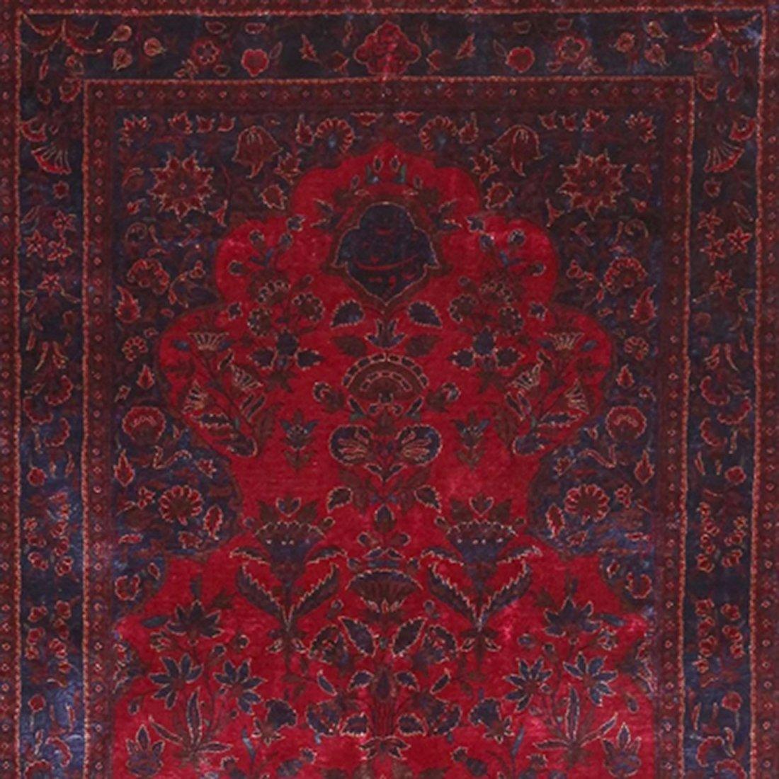 "Antique Persian Silk Kashan , Size 3'3"" x 5'"