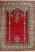 Vintage Persian Silk Qum prayer design  size 36 x 5