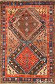 Antique Persian Kurdish carpet Size 46 X 69