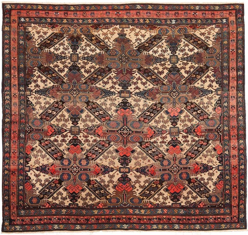 """Antique Caucasian Zeychour rug, Size 6'8"""" X 7'2"""""""