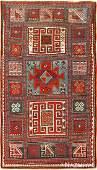 "Antique Caucasian Kazak rug, Size 3'2"" X 5'6"""