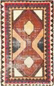 Vintage Shabby Chic Persian Gabbeh Size 44 X 67
