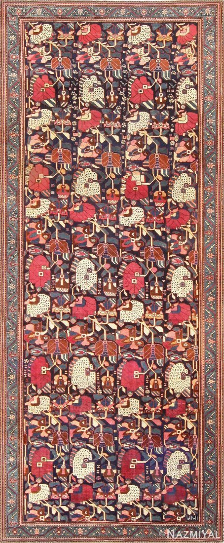 "Antique Caucasian Karabagh rug, Size 6'5"" X 15'10"""