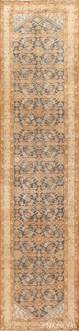 """Antique Persian Malayer runner, Size 3'7"""" X 13'5"""""""