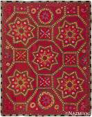 "Suzani Textile , Uzbekistan , Size 6'9"" x 8'9"""