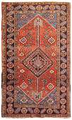 Vintage Persian Farahan , 2 ft 9 in x 4 ft 9 in