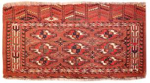 Antique Turkman Yomud Chuval  2 ft 4 in x 4 ft 3 in