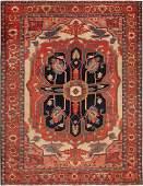 Antique Persian Serapi carpet ,8 ft 9 in x 11 ft 7 in