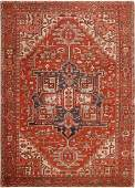 Antique Persian Heriz carpet  10 ft x 13 ft 10 in