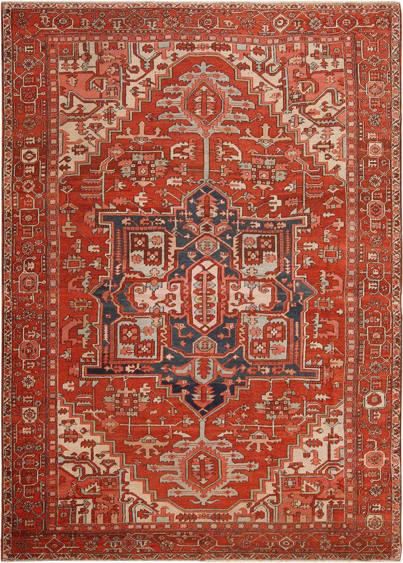 Antique Persian Heriz carpet , 10 ft x 13 ft 10 in