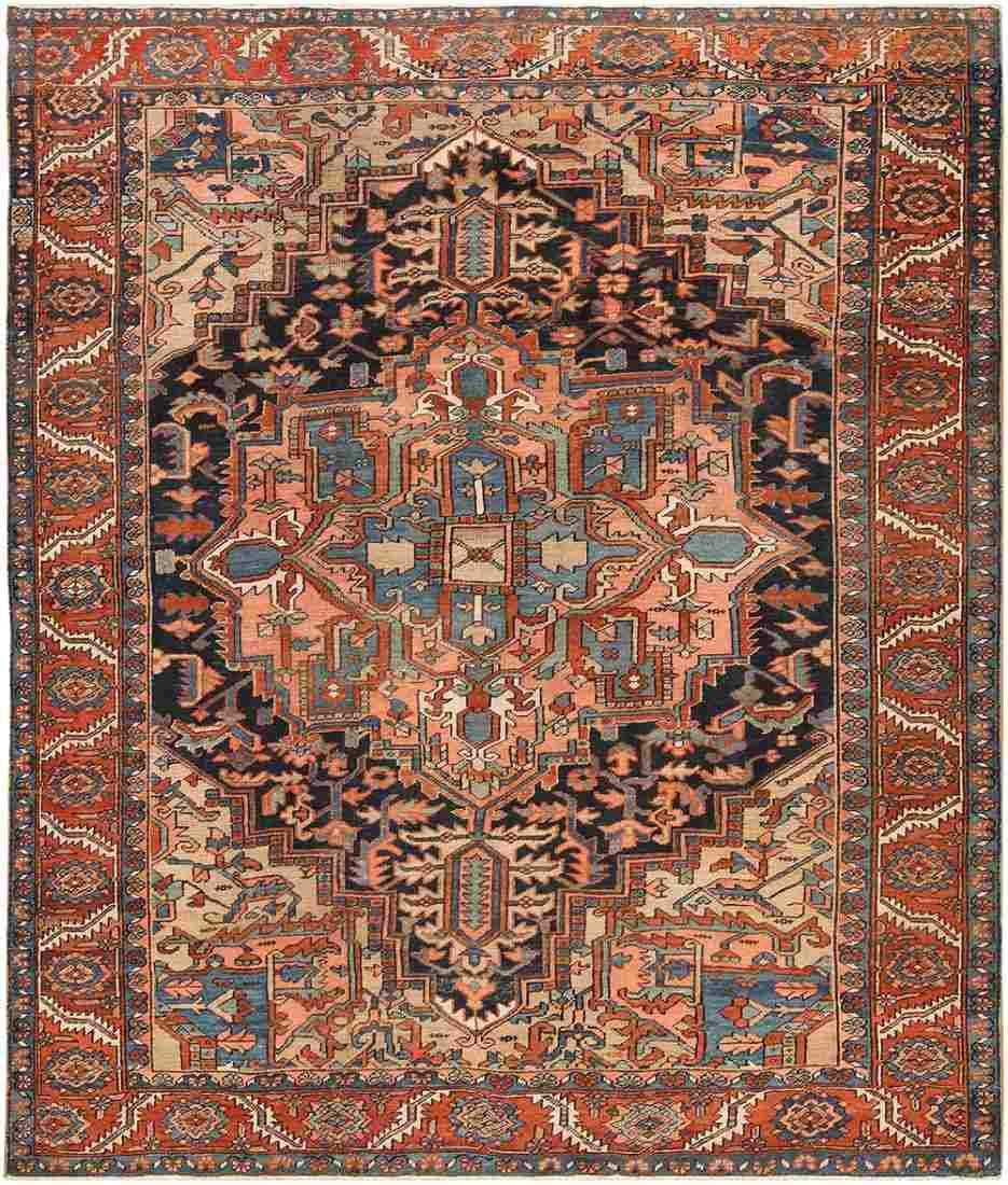 Antique Persian Heriz carpet , 9 ft x 11 ft 2 in