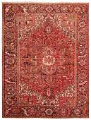 Vintage Persian Heriz carpet, 8 ft 5 in x 11 ft 2 in