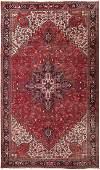 Vintage oversize Persian Heriz carpet 10ft8in x 18ft3in