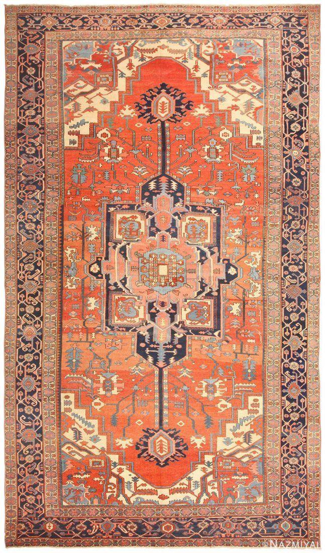 Antique Persian Heriz carpet ,11 ft x 18 ft 10 in