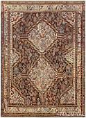 Antique Persian Ghashgai, 4 ft x 5 ft 2 in