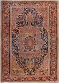Antique Persian Sarouk Farhan , 9 ft 6 in x 13 ft 6 in