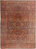 Antique Persian Isfahan carpet 9 ft x 11 ft 9 in