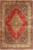 Vintage Persian Silk Qum  3 ft 7 in x 5 ft 5 in