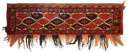 Antique Yomud Chador band  1 ft 2 in x 4 ft 6 in