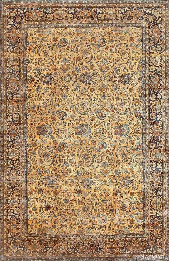 Antique Persian Kerman rug , 11 ft x 17 ft