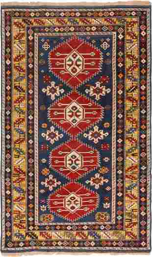 Antique Caucasian Kuba rug Azerbaijan 3.11 x 6.04