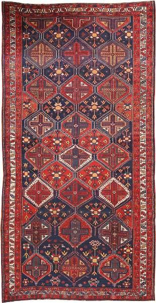 Antique Persian Bakhtiari Carpet 6 ft 4 in x 12 ft 6 in