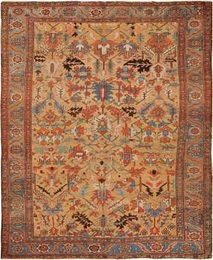 ANTIQUE PERSIAN HERIZ CARPET 9 ft 9 in x 12 ft