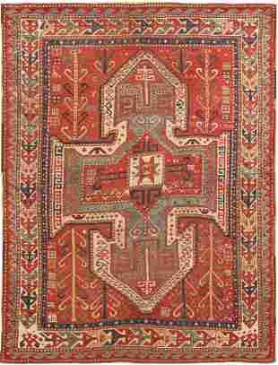 Antique Caucasian Kazak Rug, 5 ft 4 in x 7 ft 1 in