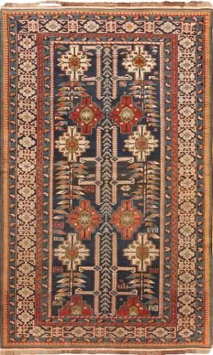 Antique Caucasian Kuba rug Azerbaijan 4ft 2in x 6ft 9in