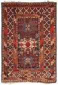 Antique Caucasian Lesghi Star rug 3 ft 4 in x 5 ft