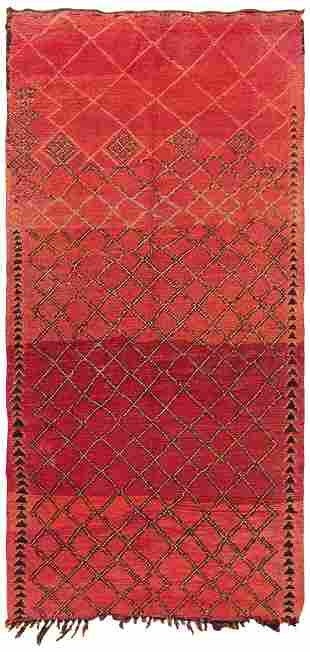 VINTAGE MOROCCAN RUG, 4 ft 9 in x 9 ft 5 in