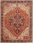 ANTIQUE PERSIAN HERIZ CARPET  12 ft 2 in x 15 ft 4 in