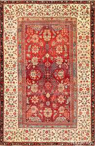 ANTIQUE INDIAN AGRA RUG, 6 ft x 8 ft 9 in