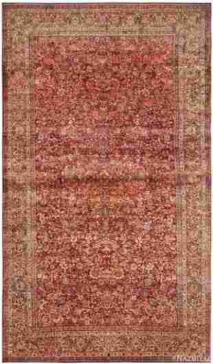 ANTIQUE PERSIAN KERMAN CARPET, 9 ft 9 in x 17 ft 3 in