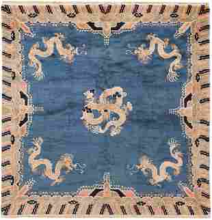 ANTIQUE CHINESE DRAGON CARPET, 5 ft 11 in x 6 ft 1 in