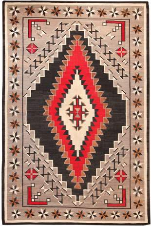 LARGE ANTIQUE AMERICAN NAVAJO RUG 8 ft 4 in x 12 ft 8in