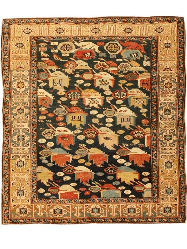 3: Antique Kuba Caucasian Rug / Carpet 42985