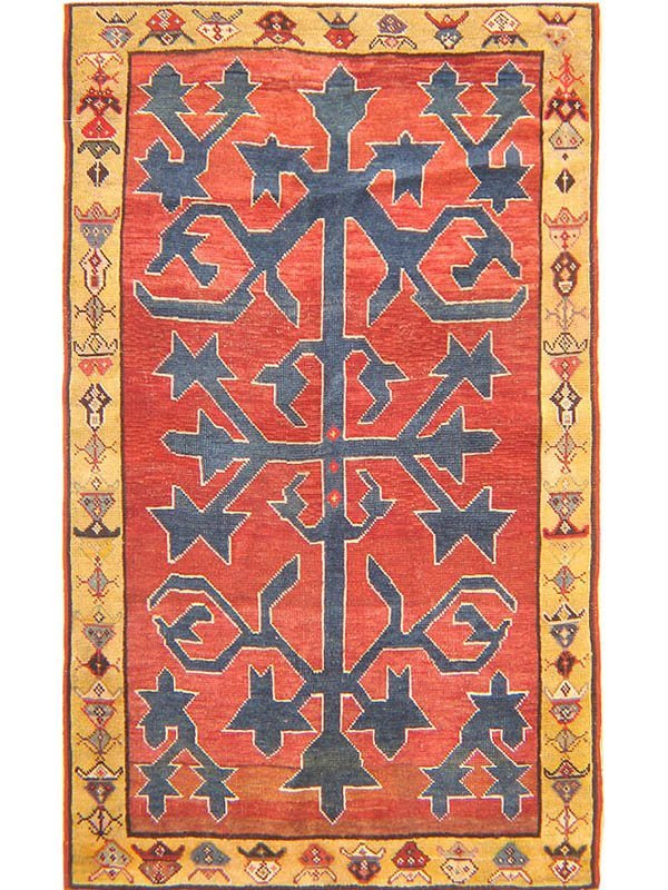 5: Antique Avar Caucasian Rug / Carpet 41707