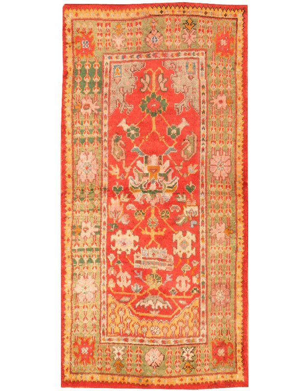 11: Antique Oushak Turkish Rug / Carpet 42442