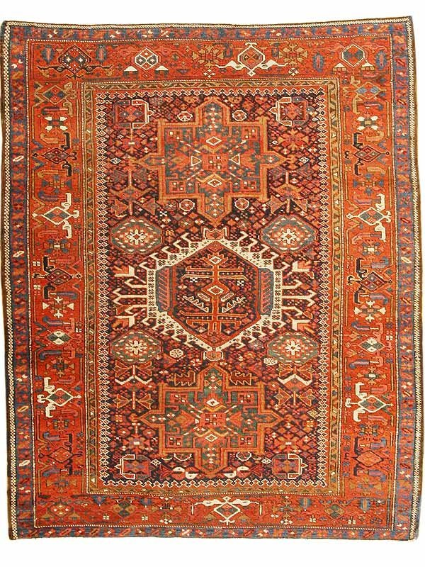17: Antique Heriz Serapi Rug / Carpet 43011