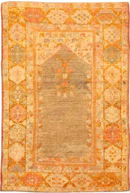 19: Antique Oushak Rug / Carpet 42640
