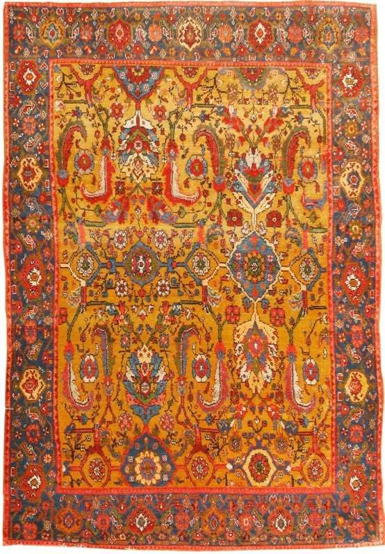 20: Antique Senneh Persian Rug / Carpet 8450