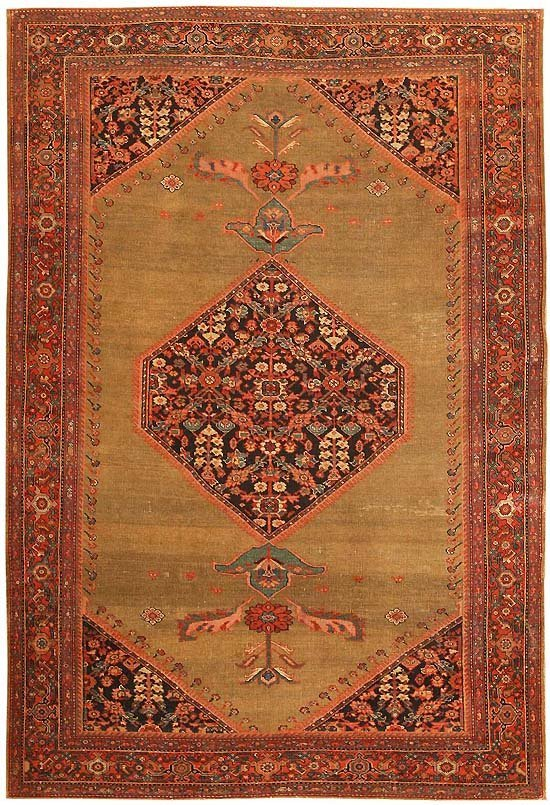 21: Antique Farahan Persian Rug / Carpet 2706