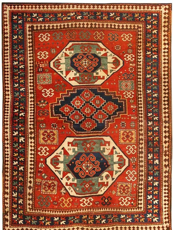 29: Antique Kazak Caucasian Rug / Carpet 43487